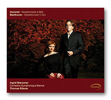 Ingrid Marsoner Diskography Buttom to CD Cover Thomas Rosner orchestre Symphonique Bienne - Piano concertos by Hummel and Beethoven - Gramola