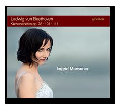 Ingrid Marsoner - Ludwig van Beethoven Discography-Ingrid-Piano-Sonatas-Op. 78 - 101 - 111